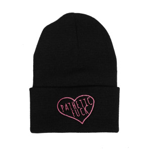 Black Beanie Embroidered Pathetic Fuck