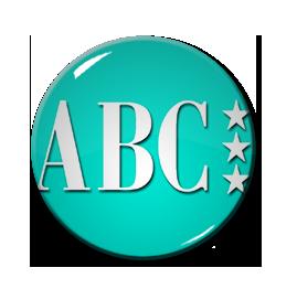 "ABC Logo 1.5"" Pin"
