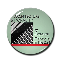 "OMD - Architecture & Morality 1.5"" Pin"