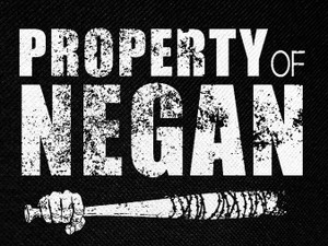 "Property of Negan 4.5x3"" Printed Patch"
