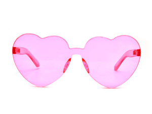 Clear Colored Heart Shaped Sunglasses