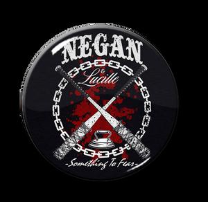 """Negan - Something To Fear 1.5"""" Pin"""