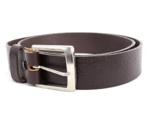 Chocolate Leather Belt