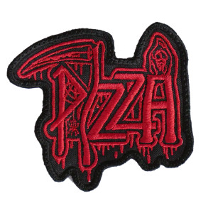 "Pizza Death Logo 3x3.5"" Embroidered Patch"