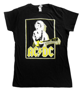 """AC/DC - Angus Young Blouse  T-Shirt Size Large """"Misprint"""""""