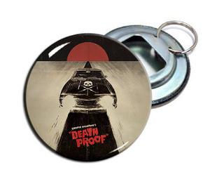 """Death Proof 2.25"""" Metal Bottle Opener Keychain"""