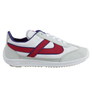 Panam - White and Red Synthetic Unisex Sneaker