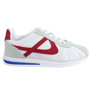 Panam - White and Red with Blue Synthetic Unisex Sneaker