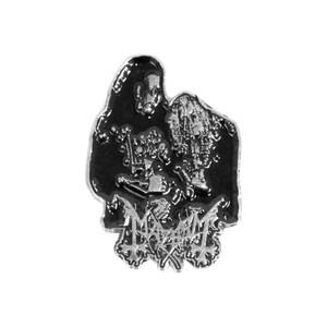 "Mayhem - Euronymous & Dead 1.5x2"" Metal Badge Pin"