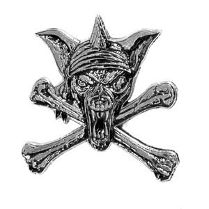 """Running Wild - Pirate 1.5"""" Metal Badge Pin"""