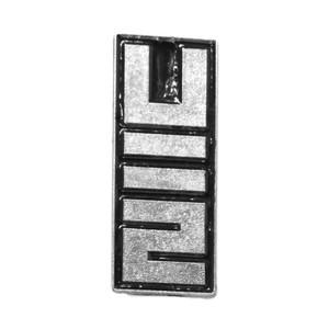 """U2 - Vertical Logo 1x2"""" Metal Badge Pin"""