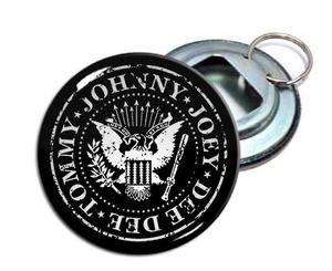 """Ramones 2.25"""" Metal Bottle Opener Keychain"""