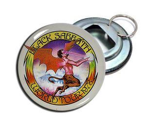 """Black Sabbath - World Tour 1978 2.25"""" Metal Bottle Opener Keychain"""