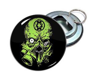 """Municipal Waste - Alien 2.25"""" Metal Bottle Opener Keychain"""
