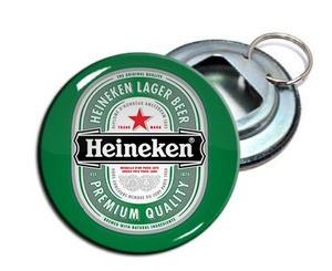 """Heineken Beer 2.25"""" Metal Bottle Opener Keychain"""