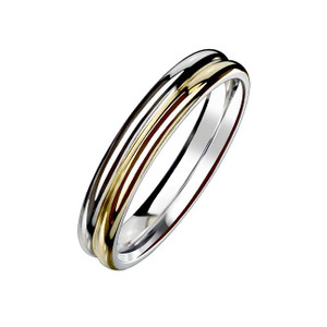 Double Dome Stainless Steel Ring