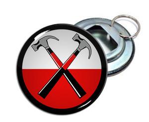 """Pink Floyd - Hammers 2.25"""" Metal Bottle Opener Keychain"""