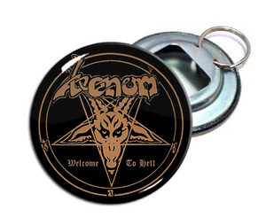"Venom - Welcome To Hell 2.25"" Metal Bottle Opener Keychain"