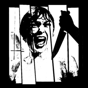 "Alfred Hitchcock's Psycho - Shower Scene 4x4"" Printed Sticker"