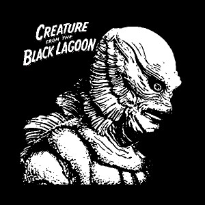 "Creature From The Black Lagoon 4x4"" Printed Sticker"