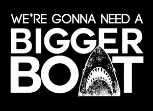 "Jaws - We're Gonna Need A Bigger Boat 5x4"" Printed Sticker"