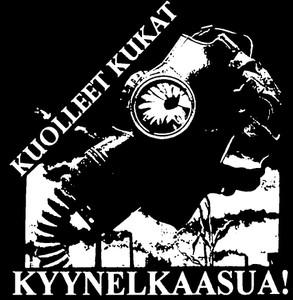 """Kuolleet Kukat - Kyynelkaasua 4x4"""" Printed Sticker"""