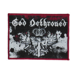 """God Dethroned - Crown 4x3.5"""" WOVEN Patch"""