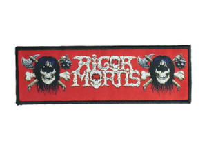 """Rigor Mortis Logo 7x2.5"""" WOVEN Patch"""