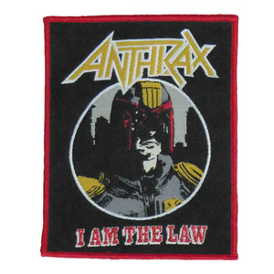"""Anthrax - I Am The Law 4x5"""" WOVEN Patch"""