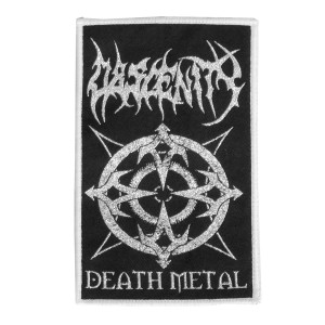 """Obscenity Death Metal 4x5"""" WOVEN Patch"""