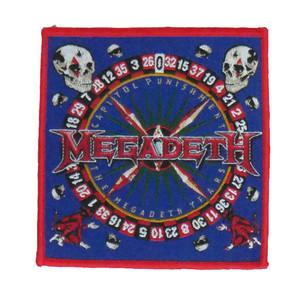 "Megadeth - Capitol Punishment 4x4"" WOVEN Patch"