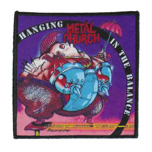 """Metal Church - Hanging In The Balance 4x4"""" WOVEN Patch"""