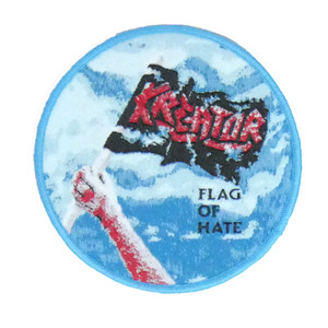 """Kreator - Flag Of Hate 4x4"""" WOVEN Patch"""