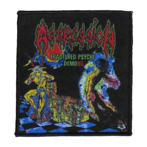 """Aggression - Fractured Psyche Demons 4x4"""" WOVEN Patch"""