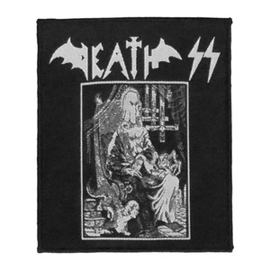 """Death SS - Evil Metal 4x4"""" WOVEN Patch"""