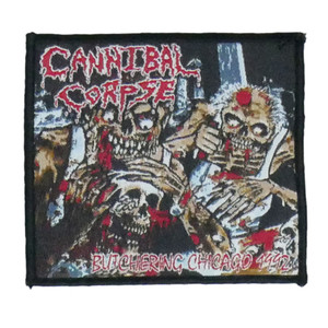 """Cannibal Corpse - Butchering Chicago 1992 4x4"""" WOVEN Patch"""