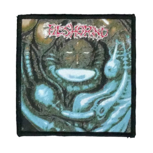 """Fleshgrind  - Destined For Defilement 4x4"""" WOVEN Patch"""