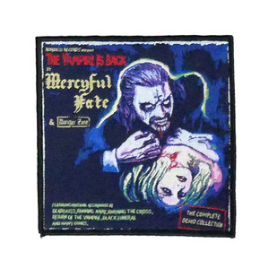 """Mercyful Fate - The Vampire Is Back 4x4"""" WOVEN Patch"""
