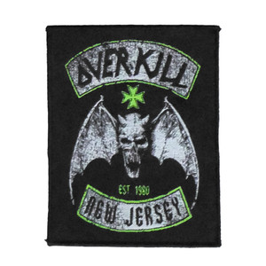 """Overkill - New Jersey 5X4"""" WOVEN Patch"""