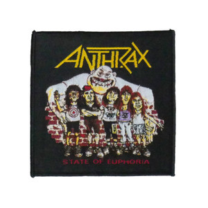 """Anthrax - State Of Euphoria 4x4"""" WOVEN Patch"""