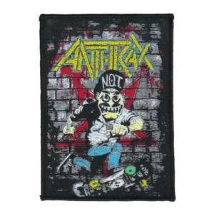 """Anthrax - Not Man 5X4"""" WOVEN Patch"""