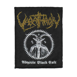 """Varathron - Abyssic Black Cult 5X4"""" WOVEN Patch"""