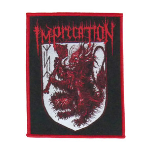 "Imprecation - Red Lion Sigil 5X4"" WOVEN Patch"