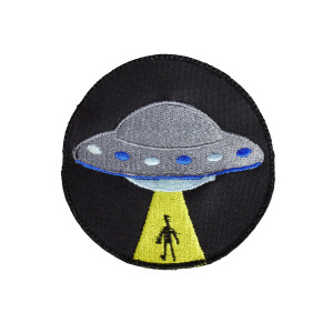 "UFO Abduction 3.25"" Embroidered Patch"