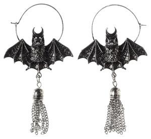 Restyle Clothing - Oriental Bat Silver Earrings
