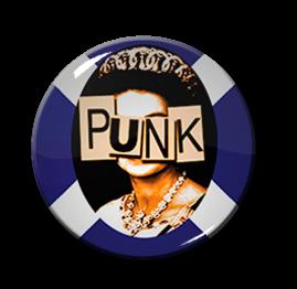 """Queen Elizabeth Punk 1"""" Pin"""
