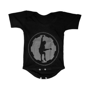 Baby Onesie - AC/DC Angus Young Silhouette