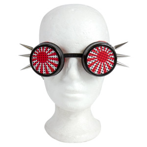 Red Sun Goggles with Spikes