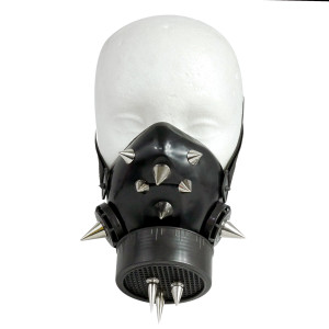 Black Respirator with Spikes and Grate