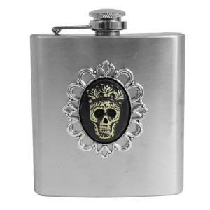 Flask - Day of the Dead Skull